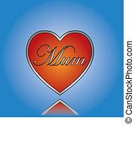 Love Mom / Mum concept Illustration