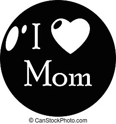 Love mother icon, simple style