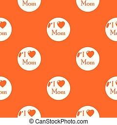 Love mother pattern vector orange