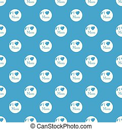 Love mother pattern vector seamless blue