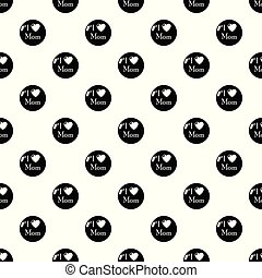 Love mother pattern vector seamless