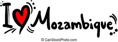 Love Mozambique - Creative design of love Mozambique