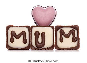 love mum chocolates studio cutout
