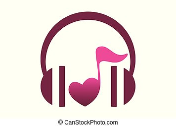 love music logo vector