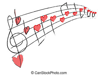 music with love notes