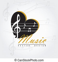 love music over gray background vector illustration