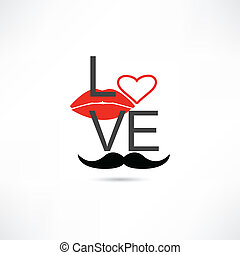 love mustache and lips