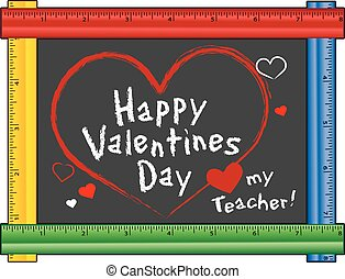 Love my Teacher Valentine - Happy Valentines Day, Love my...