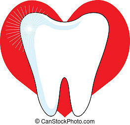Love My Tooth - A sparking image of a healthy molar, set on...