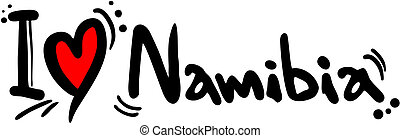 love namibia - Creative design of love namibia