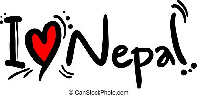Love nepal - Creative design of love nepal