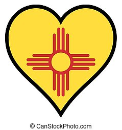 Love New Mexico - New Mexico state flag within a heart all ...