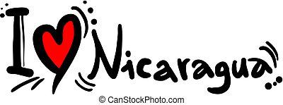 Love Nicaragua - Creative design of love nicaragua