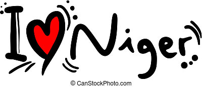 Love niger - Creative design of love niger
