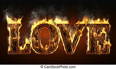 love of fire with smoke