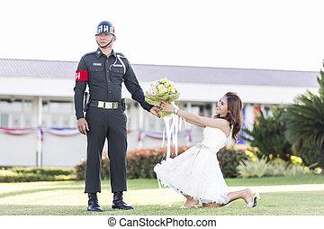Love of Thai Soldier