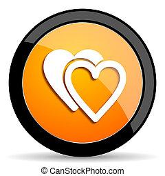 love orange icon