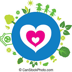Love our earth illustration