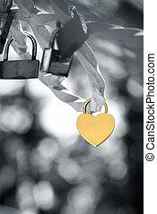 Love padlock