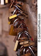Love padlocks in Benidorm, Spain