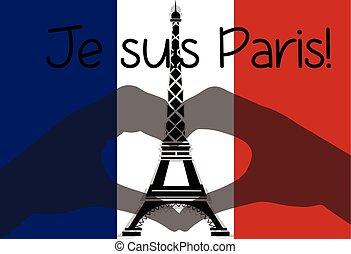 Love Paris Eiffel Tower symbol