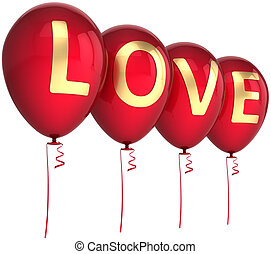 Love party balloons