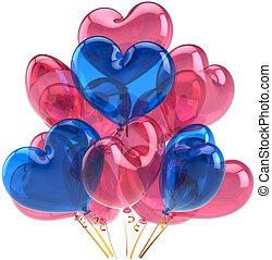 Love party balloons heart shaped