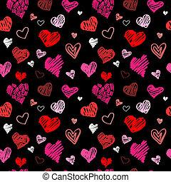 Love pattern vector background