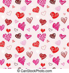 Love pattern vector texture.