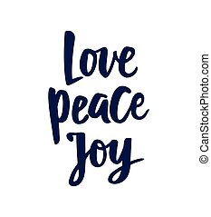 Peace Love Joy Quotes Impressive Peace Love Joy Hand Lettering Positive Quote To Christmas