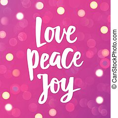 Peace Love Joy Quotes Brilliant Peace Love Joy Hand Lettering Positive Quote To Christmas