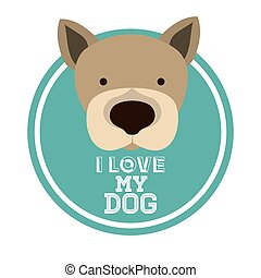 Love pet design over white background, vector illustration