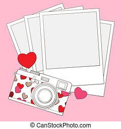 love photo camera background - love photo camera vector ...