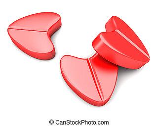 Love Pills - Love Pills. 3D rendered Illustration. isolated...