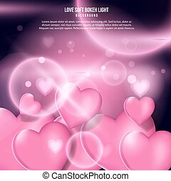 love pink light background