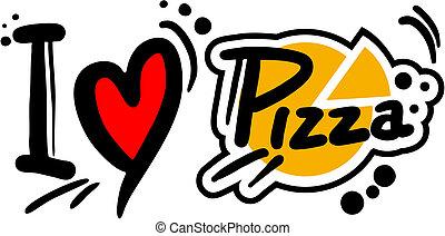 Love pizza - Creative design of love pizza