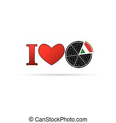 love pizza illustration