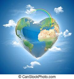 love planet 3d concept - love planet 3d concept - heart...