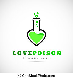 Love Poison Vector Concept Symbol Icon or Logo Template