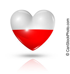 Love Poland, heart flag icon