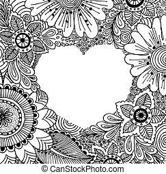Love poster template with hand-draw