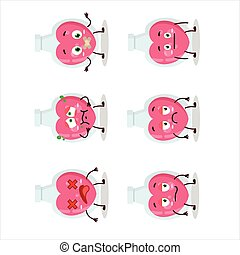 Love potion cartoon character with nope expression.Vector ...