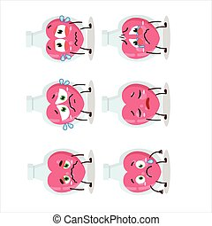 Love potion cartoon character with sad expression.Vector ...