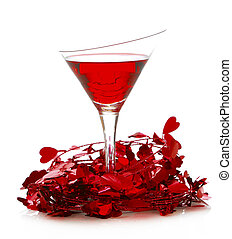 love potion - valentines day cocktail isolated on white background