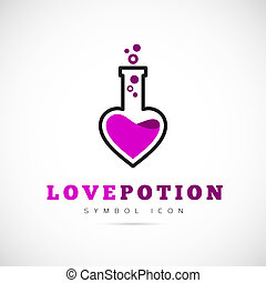 Love Potion Vector Concept Symbol Icon or Logo Template ...