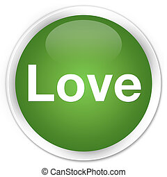Love premium soft green round button