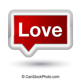 Love prime red banner button