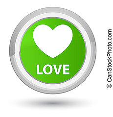 Love prime soft green round button