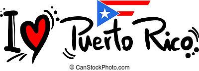 Love puerto rico - Creative design of love Puerto Rico