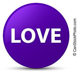 Love purple round button